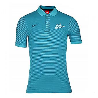2016-2017 Zenit Nike Authentic League Polo Shirt (Omega Blue)