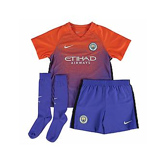 2016-2017 man City troisième Nike Little Boys Mini Kit