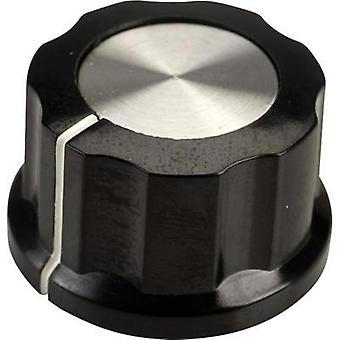 Control knob Black, White (Ø x H) 26.8 mm x 15.8 mm SCI RN-99D(6.4mm) 1 pc(s)