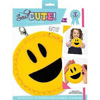Sew Cute! Mini Felt Kit-Emoji Open Mouth Smile SEWMINI-73608