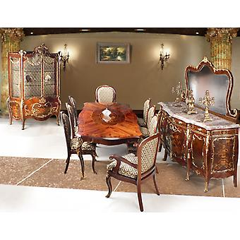 baroque dining room antique style Replikat vitrina glass cabinet  sideboard table Stühle
