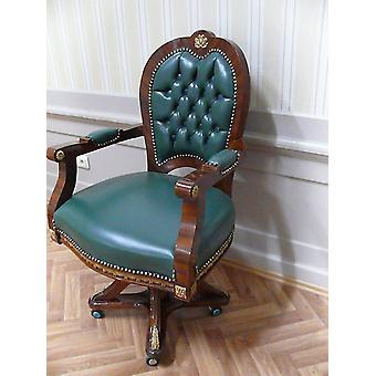 baroque armchair carved rococo chair antique style MoCh0857SkGn