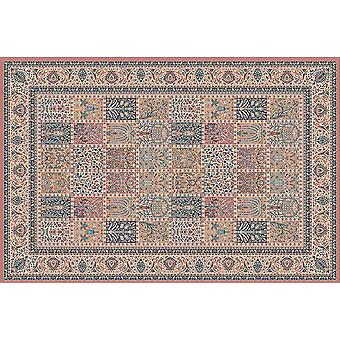 Farsistan Russet 5636-675 Russet, beige, bleu et or Rectangle Tapis Tapis traditionnel