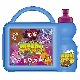 De doos van de Lunch van Moshi Monsters met sportfles