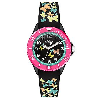 s.Oliver siliconen band horloge kids SO-3275-PQ