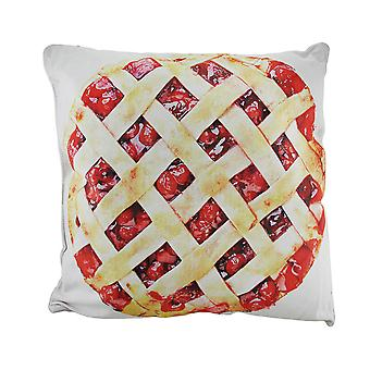 18 in. Cherries and Cherry Pie Decorative Throw Pillow