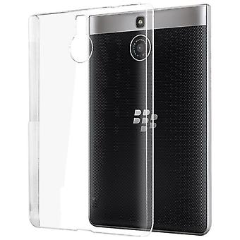 InventCase TPU Gel Case Cover Skin with Screen Protector for BlackBerry Passport Silver Edition 2015 - Transparent / Clear