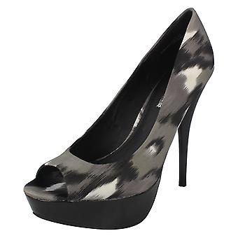 Damen-Spot auf High Heel-Plattform Open Toe Pumps