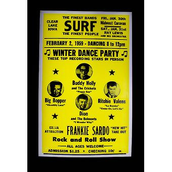 Frankie Sardo - Winter Dance Party - Retro Concert Poster