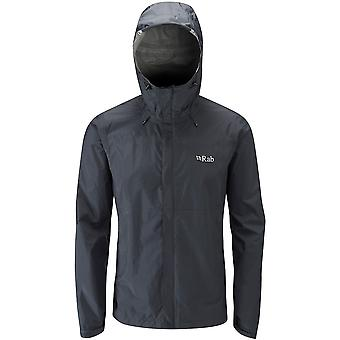 Rab Mens Downpour Jacket Black (Medium)