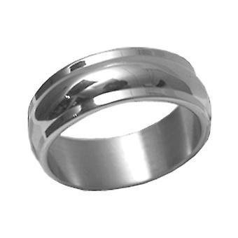 Stainless Steel Ring, Curved, Mat Metal