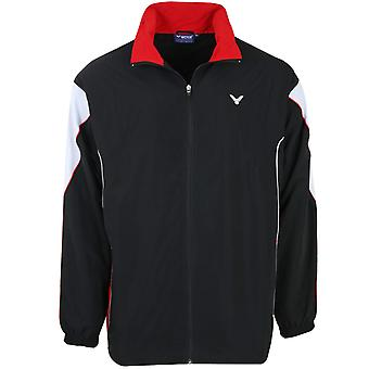 VICTOR Training Jacket Team Jacke Kinder Badminton Trainings-Jacke Schwarz 3701