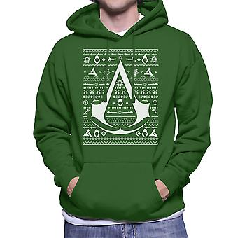 Christmas Strik Sweatshirt med hætte til Assassins Creed mænds