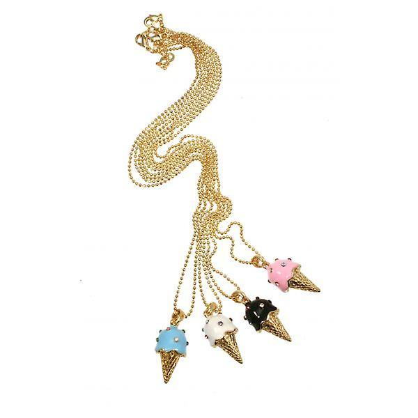 W.A.T White Enamel And Swarovski Crystal Ice Cream Pendant
