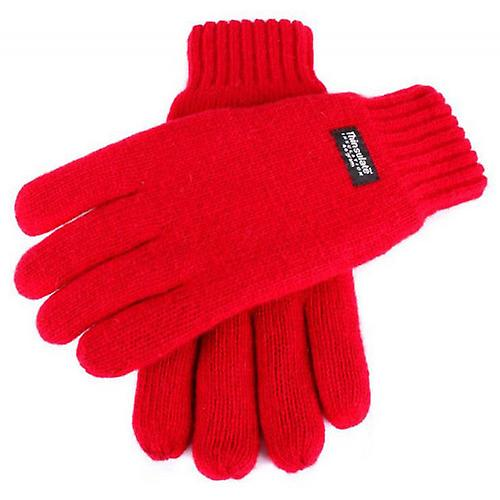 Dents Plain Knitted Gloves - Berry