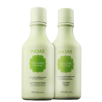 Inoar Duo Fresh Ginger Hair Care System - 250ml x 2