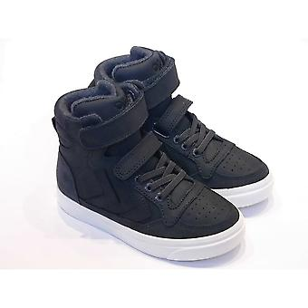 Hummel Hummel Stadil Hi Oiled Grey Leather High Top