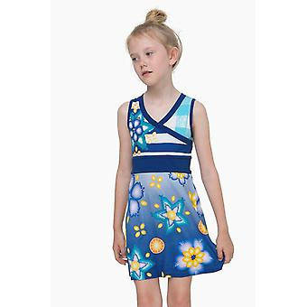 Desigual girls sleeveless dress with floral motif vest Túnez