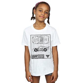 Disney Girls Cars Lightning McQueen Blueprint T-Shirt
