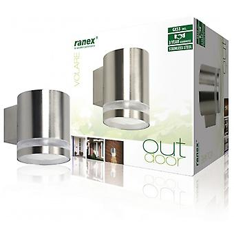 Ranex Fluorescent Outdoor Wall lamp 9 W Steel