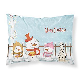 Merry Christmas Carolers dalmatinischen Stoff Standard Kissenbezug
