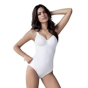 Anita Rosa Faia 3488-006 Women's Twin White Microfiber Non-Padded Underwired Firm/Medium Control Slimming Shaping All In One Body