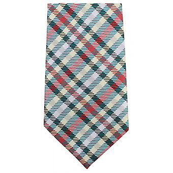 Knightsbridge Neckwear Tartan Woven Tie - Green/Red/Yellow