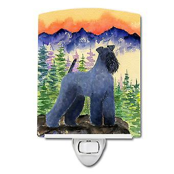 Carolines trésors SS8223CNL Kerry Blue Terrier céramique veilleuse