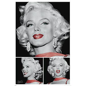 Marilyn Monroe - Red Lip Poster Poster Print