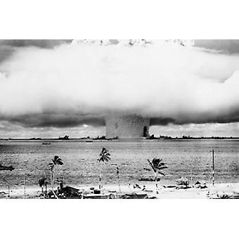 Atom Bomb Mural Poster Poster Print