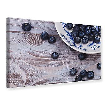 Canvas Print Blueberries