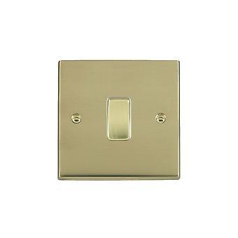 Hamilton Litestat Cheriton Victorian Polished Brass 1g 10AX Inter Rkr PB/WH