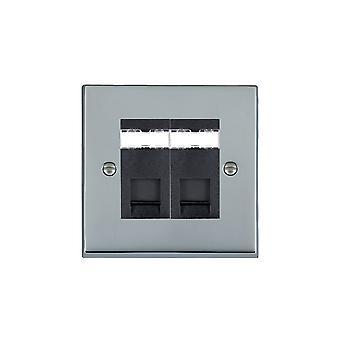 Hamilton Litestat Cheriton victorianske lyse Chrome 2g RJ12 Outlet-Unshield BL