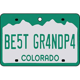 Colorado - Best Grandpa License Plate Car Air Freshener