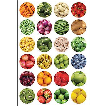 Hygloss Themed Stickers 3/Pkg-Fruit & Veggie TSF199-1871