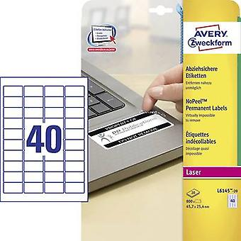 Avery-Zweckform L6145-20 Labels (A4) 45.7 x 25.4 mm Polyester fi