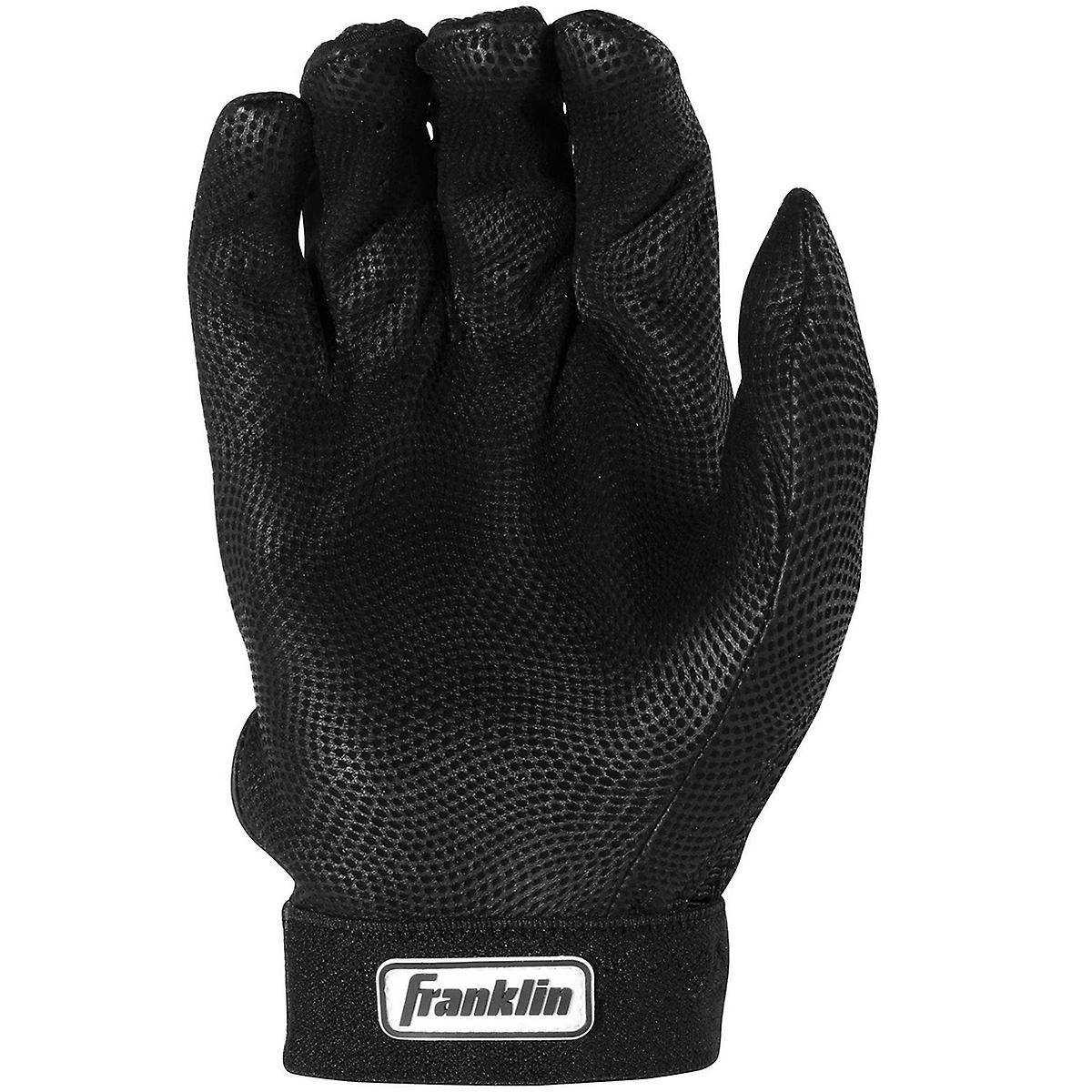Franklin Adult Pro Classic MLB Batting Gloves - Black/Black