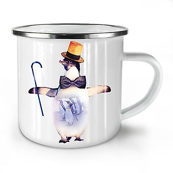 Penguin Bird Dance Funny NEW WhiteTea Coffee Enamel Mug10 oz | Wellcoda