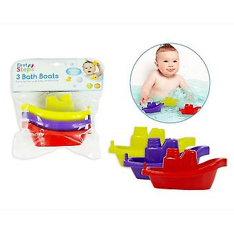First Steps Bathtime Fun Bath Boats (Pack Of 3)