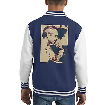 Paul Newman London 1971 Poster Style Kid Varsity Jacket