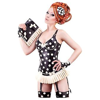 Westward Bound Cirque-Sucre Latex Rubber Corset.