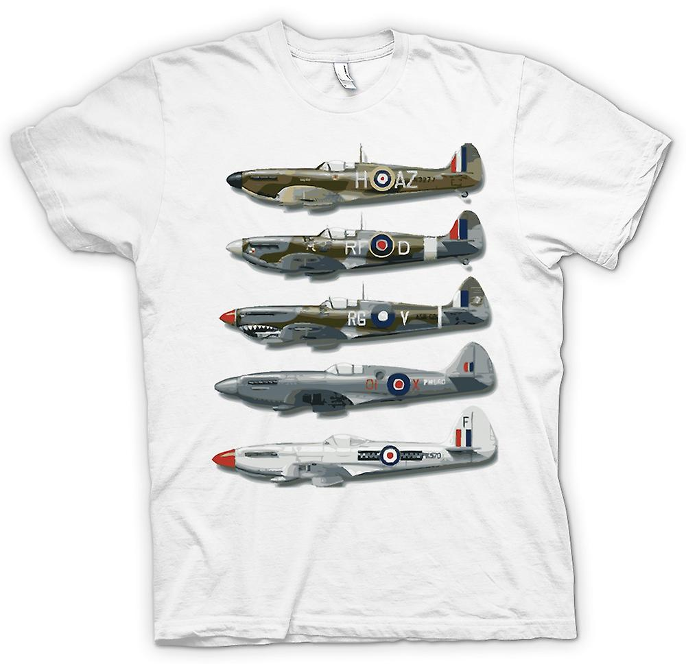 Heren T-shirt - 5 Spitfires Collage - offerte