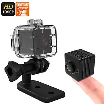 Mini Sports Action Camera - FHD Resolutions,Loop-Cycle Recording, Motion Detection, Night Vision