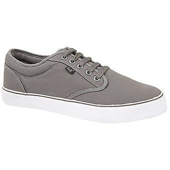 Boys Boxed Lace Up Canvas Smart Casual Padded Collar Deck Trainers Shoes