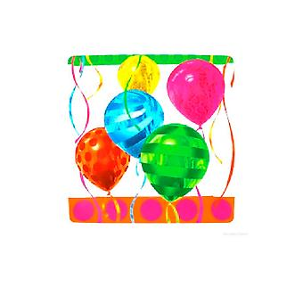 "Balloon Bright 10"" Paper Square Plate"