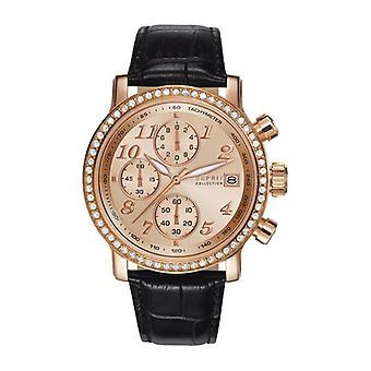 ESPRIT dameshorloge collectie Chrono Pontess horloge Rosé LEDER EL190322007