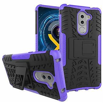 Hybrid Case 2teilig Outdoor Lila für Huawei Honor 6X Tasche Hülle Cover Schutz