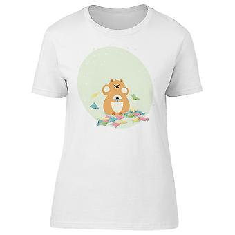 Hamster Eating Candies Tee Women's -Image by Shutterstock