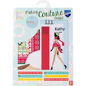 Dress Your Doll Making Couture Outfit Set-Kathy Pink