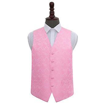 Baby Pink Paisley Wedding Waistcoat